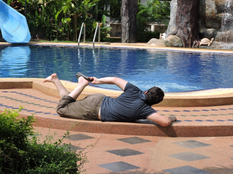 Glamour shot from the pool at Khon Buri